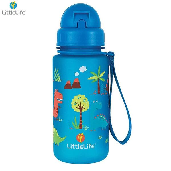 LittleLife Бутилка за вода Динозавър, 400мл L15030