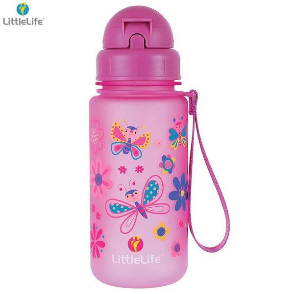 LittleLife Бутилка за вода Пеперуда, 400мл L15060