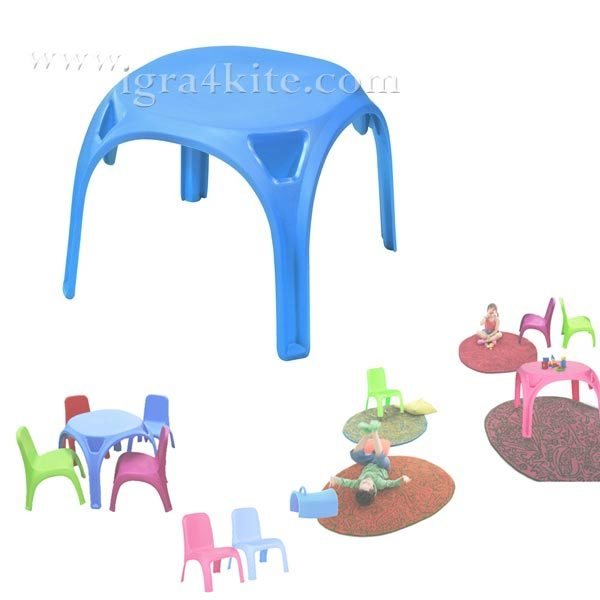 Детска маса синя