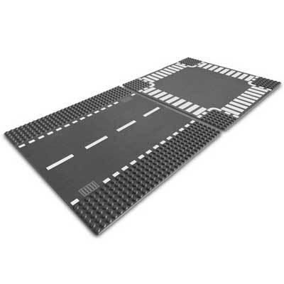 Lego 7280 Building Plates - Кръстовище и правa пътнa плочa