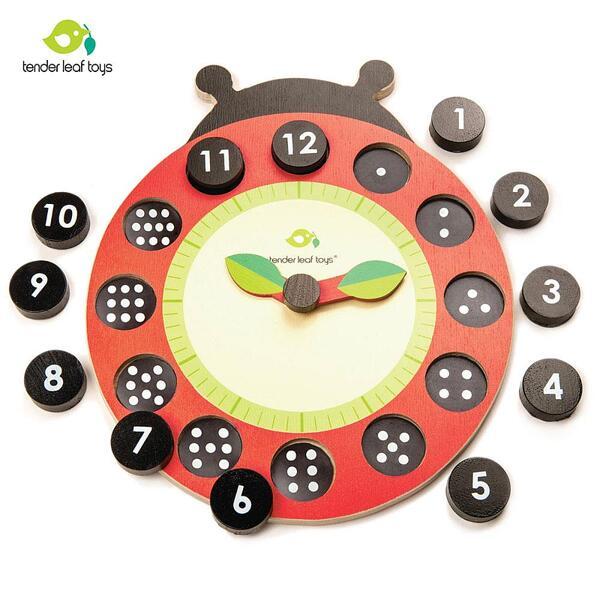 Tender Leaf Дървен образователен часовник Калинка TL8412