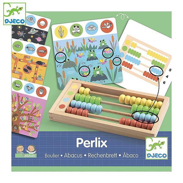 Djeco Детска образователна игра с дървено сметало Perlix DJ08348