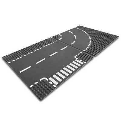 Lego 7281 Building Plates - Кръстовище и извита /завой/ плоча
