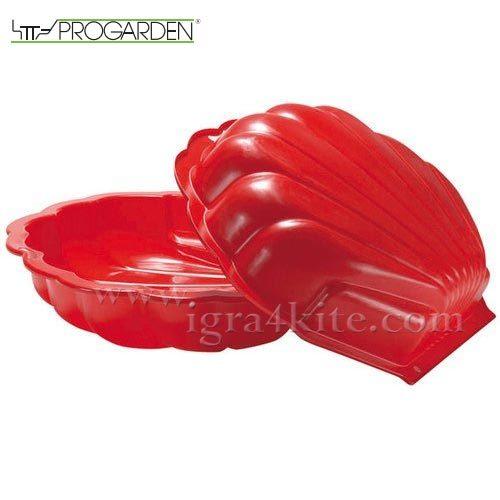 Progarden - Детски пясъчник с капак Мида червен 342018