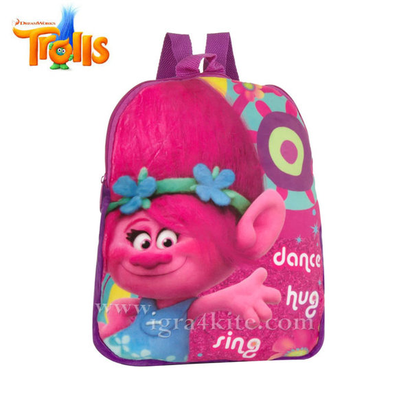 Trolls - Плюшена раница за детска градина Попи 43203