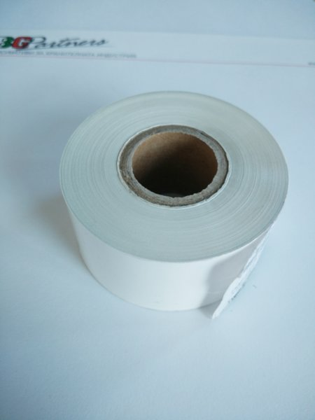 Бяла термо трансферна лента за печат