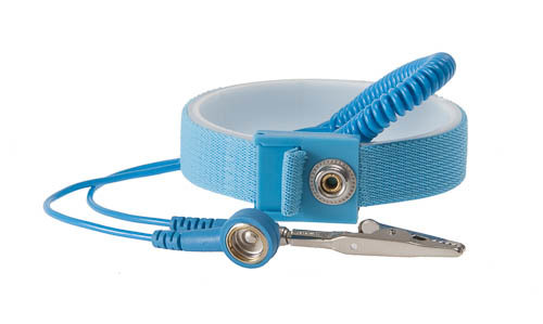 STATICTEC, Антистатична гривна Wristband Set blue, 10mm x 4mm banana