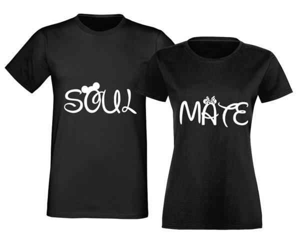 Комплект Тениски За Влюбени Двойки Soulmate Mickey & Minnie Mouse