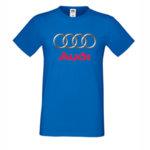 Памучна тениска с голямо лого Ауди на гърдите
