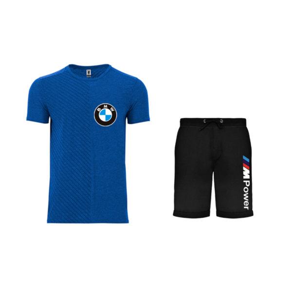Летен спортен комплект тениска и къси гащи BMW Mpower