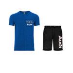 Летен спортен комплект тениска и къси гащи AUDI