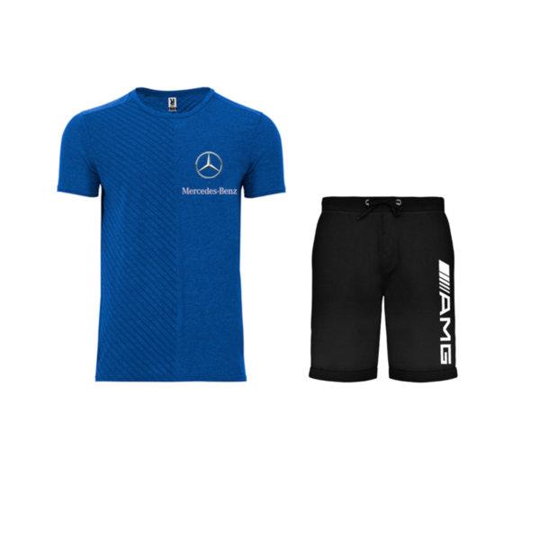Летен спортен комплект тениска и къси гащи Mercedes-Benz AMG