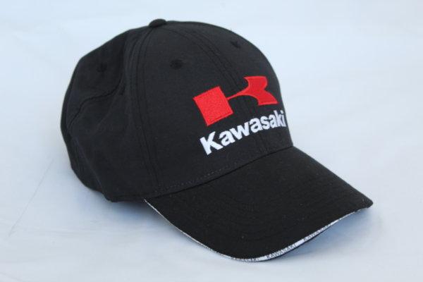 Шапка с козирка с бродирано лого Kawasaki
