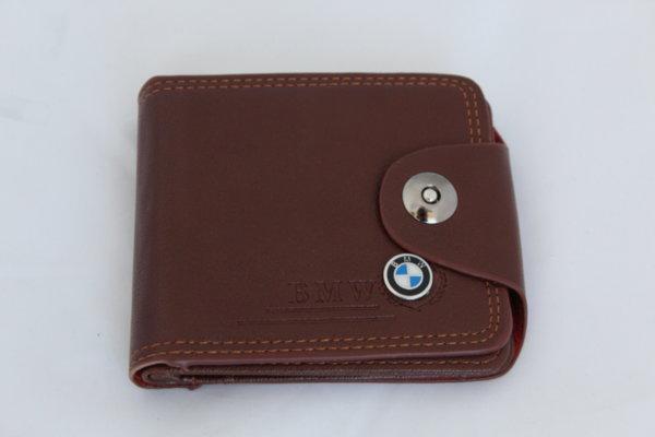 Кафяво портмоне от изкуствена кожа BMW