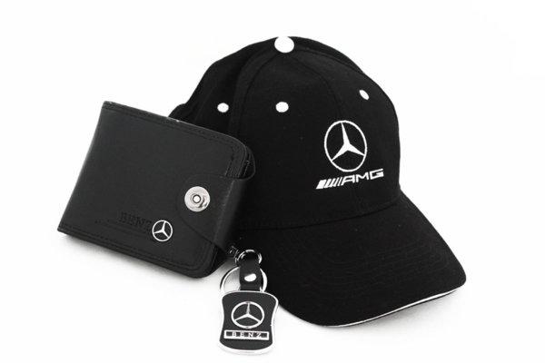 Mercedes-Benz PACK Ключодържател, Портмоне и Шапка с Козирка