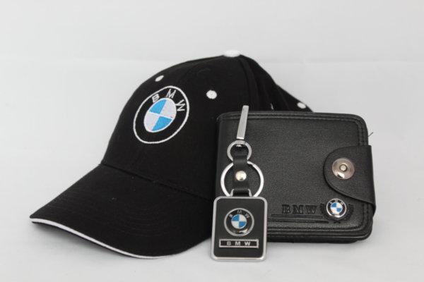BMW PACK Ключодържател, Портмоне и Шапка с Козирка