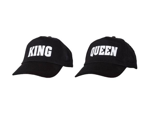 Шапки с козирка за влюбени King & Queen
