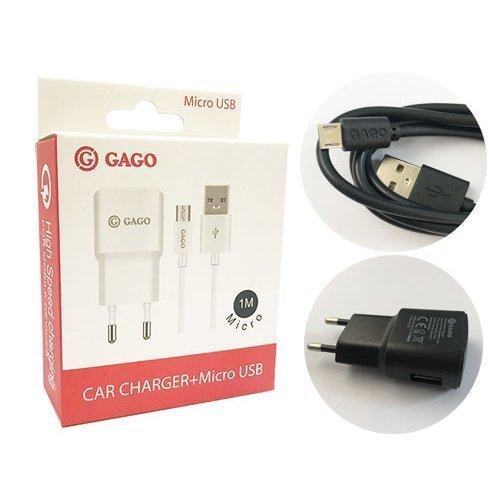 Универсално USB зарядно 5v 1.2A + кабел Micro USB