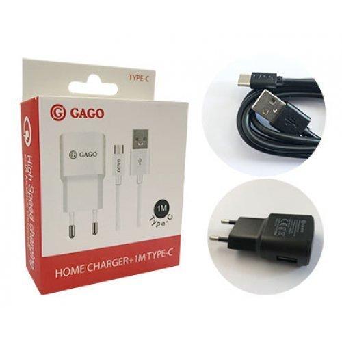 Универсално USB зарядно 5v 1.2A + кабел Type C