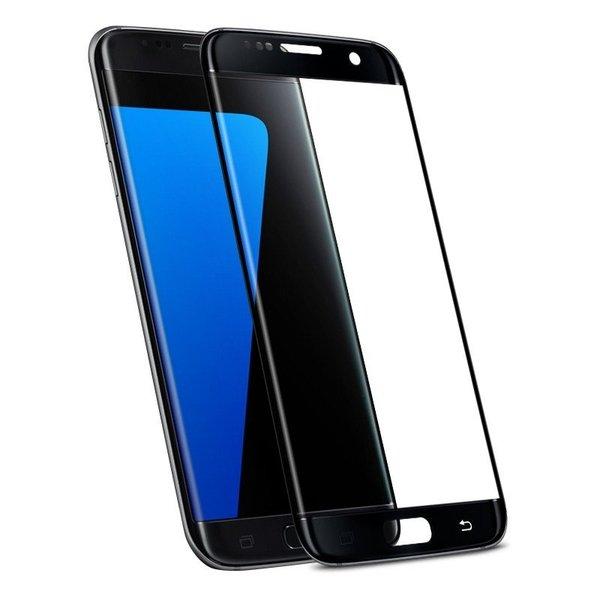 3D Заоблен стъклен протектор за Samsung Galaxy S7 Edge с цветна рамка