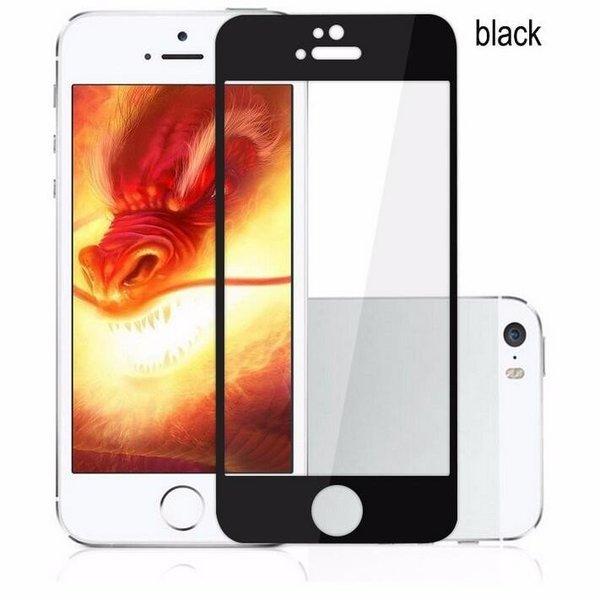 Стъклен протектор Full face цветна рамка за iPhone 5/5S/SE