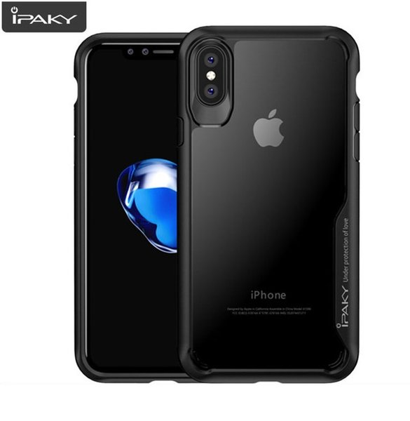 Ipaky Acrylic противоударен гръб Iphone XS