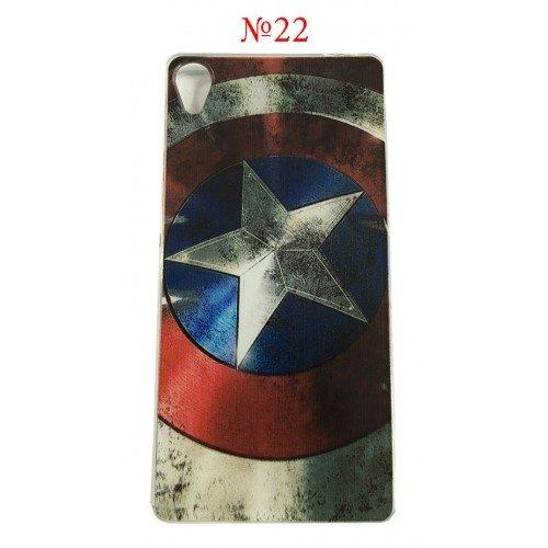 Силиконов гръб Captain America Sony Xperia M5