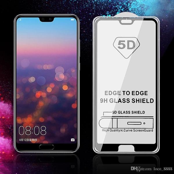 5D Glass FULL GLUE стъклен протектор Huawei P20 Pro