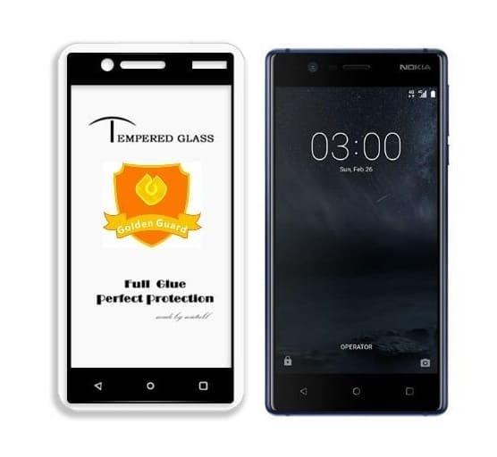 5D  Glass FULL GLUE стъклен протектор Nokia 3