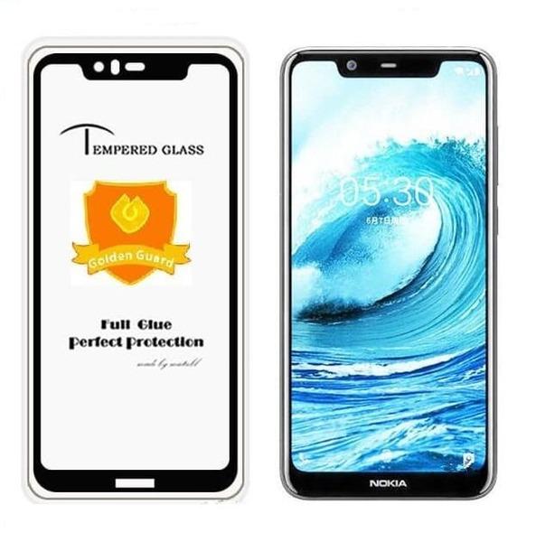 5D  Glass FULL GLUE стъклен протектор Nokia 5.1