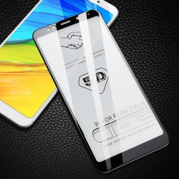 5D Glass  FULL GLUE стъклен протектор Xiaomi Redmi Note 5