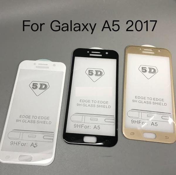 5D  Glass FULL GLUE стъклен протектор Samsung A5 2017
