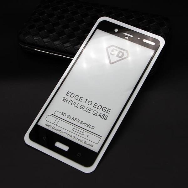 5D  Glass FULL GLUE стъклен протектор Nokia 6.1 Plus
