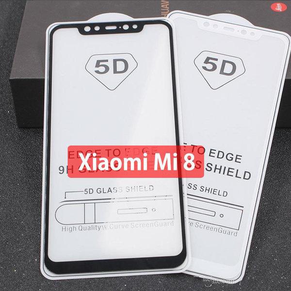 5D Glass  FULL GLUE стъклен протектор Xiaomi MI 8 Pro