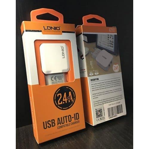 Универсално Зарядно LDNIO Dual 2.4A 220V