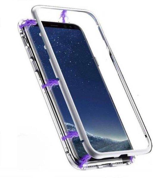 360 Magnetic Case с метална рамка Samsung S9 Plus - Сребрист