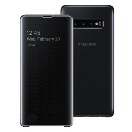 Clear View Flip Case Samsung S10 Plus