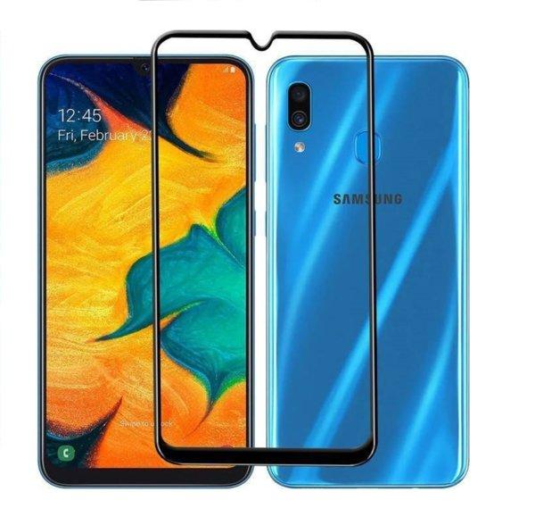 5D Glass FULL GLUE стъклен протектор Samsung A40 2019