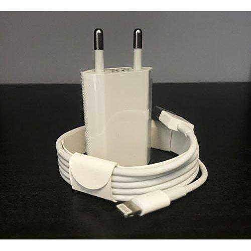 220V Зарядно+Usb Кабел iPhone 8/9/X/XS/XS max - Бял