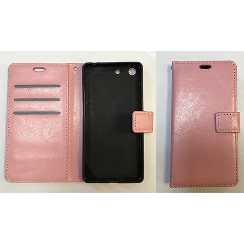 Хоризонтално отварящ се калъф Samsung S6 /розов/