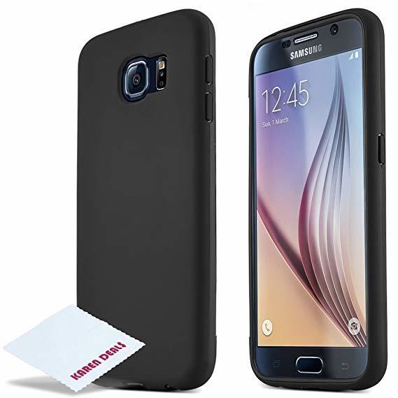 Черен силиконов гръб Samsung S6/S6 Edge
