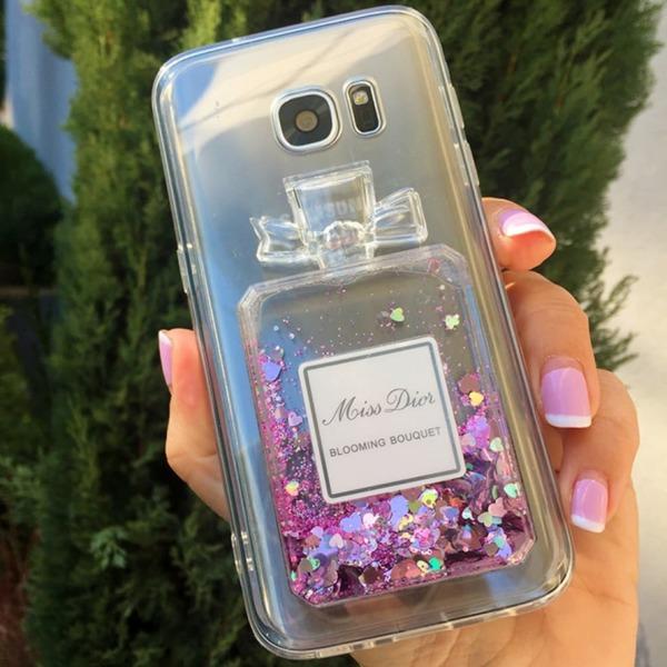 Perfume TPU силиконов кейс Samsung S9