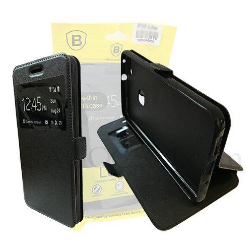 Хоризонтално отварящ се калъф с Активен прозорец Samsung S7-Copy