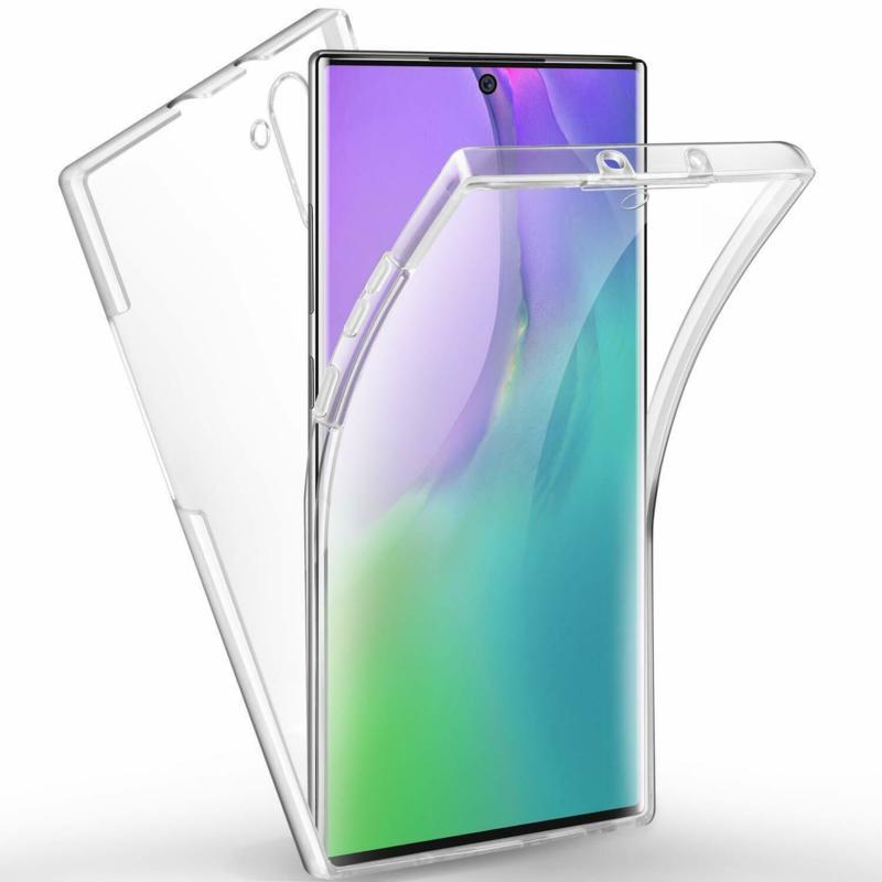 360 градусов кейс силиконов Samsung Note 10 Plus