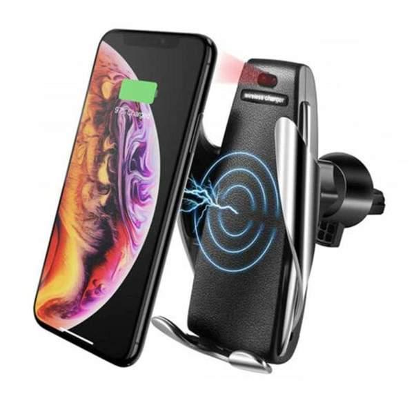 Qi Безжично зарядно - Стойка за телефон за кола