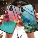 Glass case силиконов гръб iPhone XR