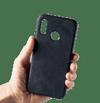 Alcantara кожен гръб Huawei Y7 2019