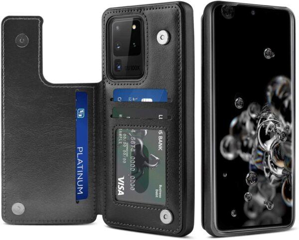 Кожен Magnetic case тип заден тефтер Samsung S20 Ultra