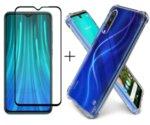 Комплект 5D Full Glue стъклен протектор + Clean Armor гръб Xiaomi Note 8 Pro-Copy