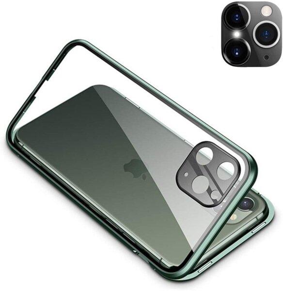 360 Magnetic Case с предно и задно стъкло Iphone 11 + камера протектор